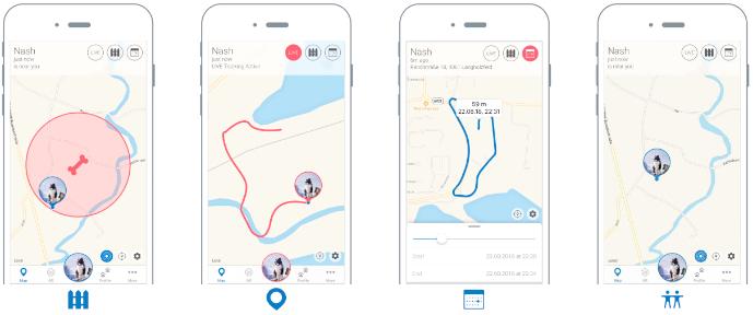 Beispiel einer guten Tracking-App (Tractive)